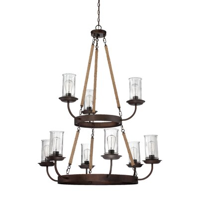 Sanderling 9-Light Shaded Chandelier