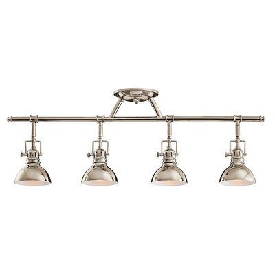 Gleason 4-Light Semi Flush Mount Finish: Polished Nickel