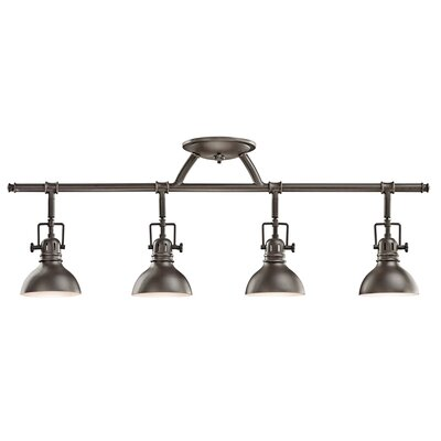 Gleason 4-Light Semi Flush Mount Finish: Olde Bronze
