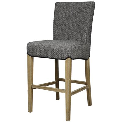 Ginevra� 26 Bar Stool with Cushion Upholstery: Gray Honeycomb