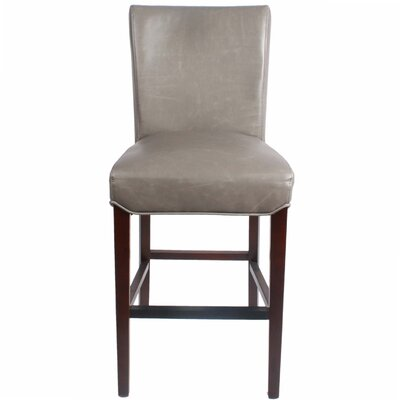 Ginevra�26 Bar Stool with Cushion Upholstery: Vintage Gray
