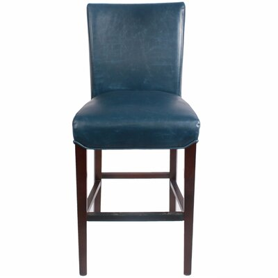 Ginevra?26 inch Bar Stool with Cushion Upholstery: Vintage Blue