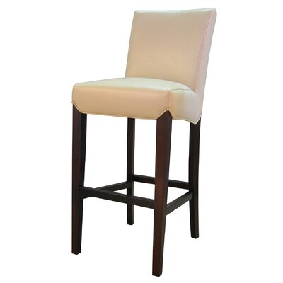 Ginevra 29.5 Bar Stool with Cushion Upholstery: Cream