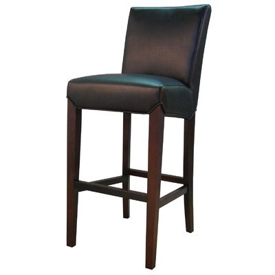 Ginevra� 29.5 Bar Stool with Cushion Upholstery: Black