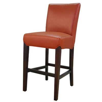 Ginevra� 29.5 Bar Stool with Cushion Upholstery: Pumpkin
