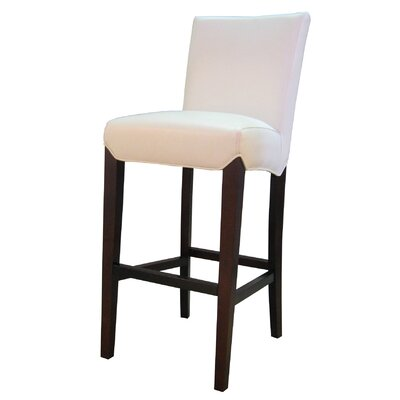 Ginevra� 29.5 Bar Stool with Cushion Upholstery: White
