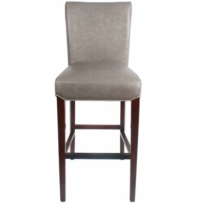 Ginevra 29.5 inch Bar Stool with Cushion Upholstery: Vintage Gray