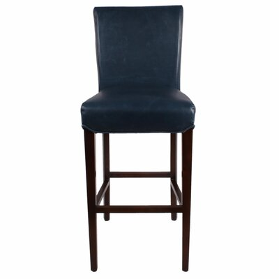 Ginevra� 29.5 Bar Stool with Cushion Upholstery: Vintage Blue