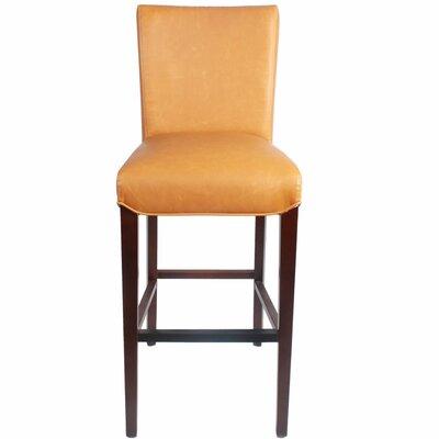 Ginevra 29.5 inch Bar Stool with Cushion Upholstery: Vintage Caramel