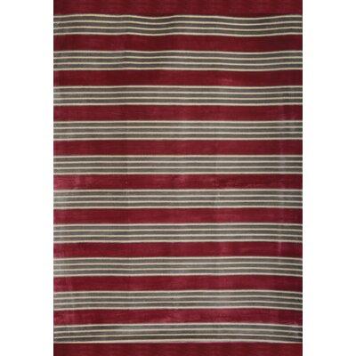 Luciana Raspberry/Light Blue/Ivory Area Rug Rug Size: 710 x 112