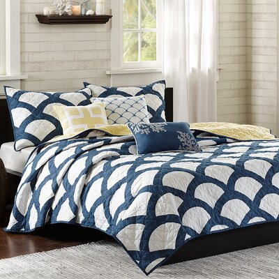 Madalena 6 Piece Reversible Coverlet Set