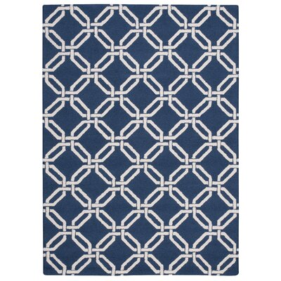 Grandbrook Navy Area Rug Rug Size: 5 x 7