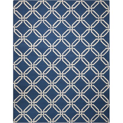 Grandbrook Navy Area Rug Rug Size: 76 x 96