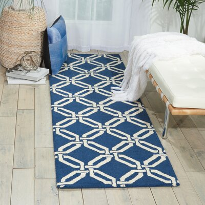 Grandbrook Navy Area Rug Rug Size: Runner 23 x 76