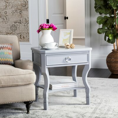 Rowe 1 Drawer Nightstand Color: Gray
