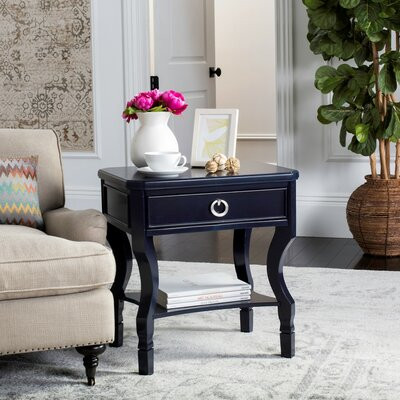 Romola 1 Drawer Nightstand Finish: Navy