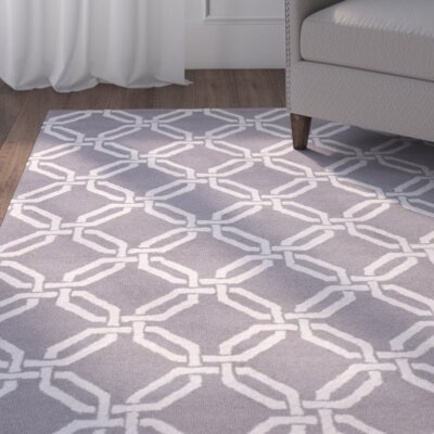 Mila Silver Area Rug Rug Size: 5 x 7