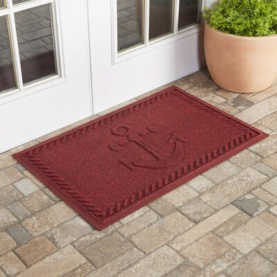 Darrow Anchor Doormat Color: Red