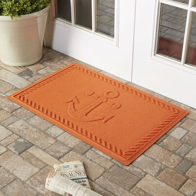 Darrow Anchor Doormat Color: Orange