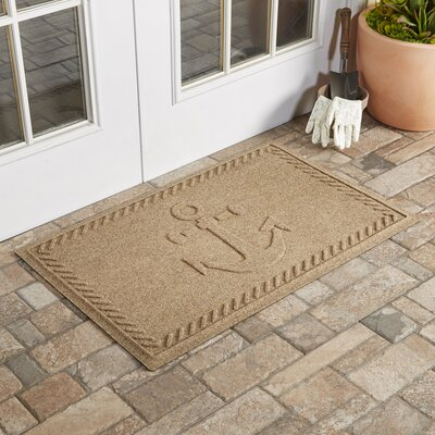 Chadbourne Ship's Anchor Doormat Color: Camel