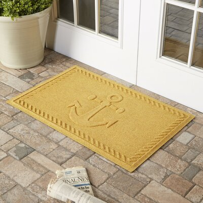Darrow Anchor Doormat Color: Yellow