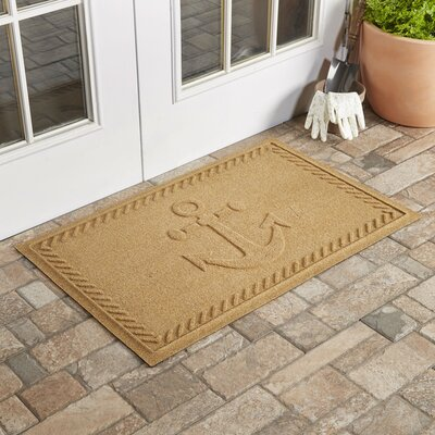 Chadbourne Ships Anchor Doormat Color: Gold