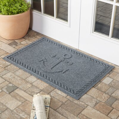 Chadbourne Ships Anchor Doormat Color: Bluestone
