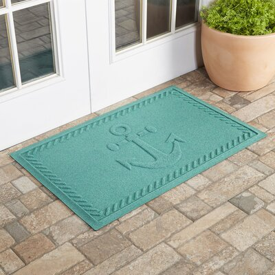 Darrow Anchor Doormat Color: Aquamarine