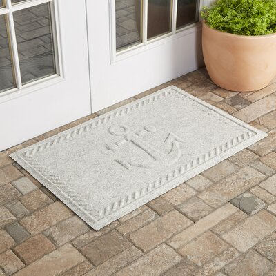 Darrow Anchor Doormat Color: White