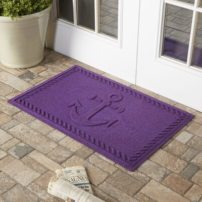 Darrow Anchor Doormat Color: Purple