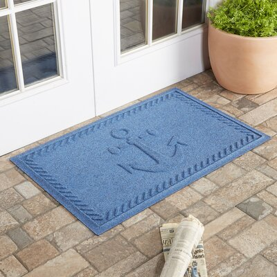 Darrow Anchor Doormat Color: Medium Blue