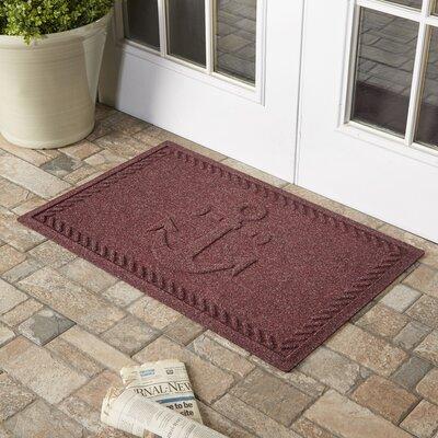 Darrow Anchor Doormat Color: Bordeaux