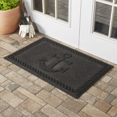 Darrow Anchor Doormat Color: Charcoal