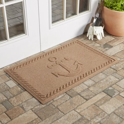Chadbourne Ship's Anchor Doormat Color: Medium Brown