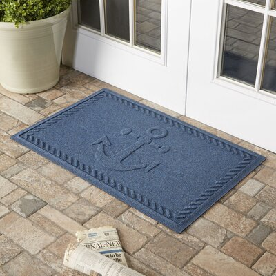 Darrow Anchor Doormat Color: Navy