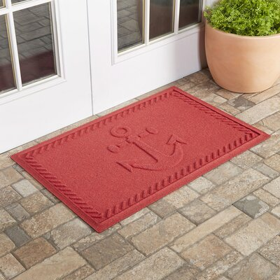 Chadbourne Ships Anchor Doormat Color: Solid Red