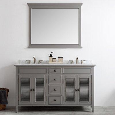 Gwyneth 60 Double Vanity Set with Mirror Base Finish: Grey