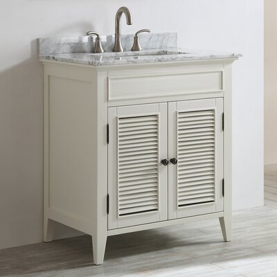 Gwyneth 30 Single Vanity Set Base Finish: Antique White