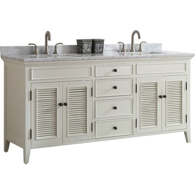 Gwyneth 72 Double Vanity Set Base Finish: Antique White