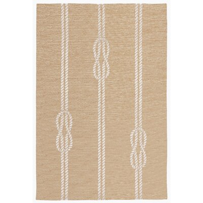 George Hand-Tufted Neutral Indoor/Outdoor Area Rug Rug Size: Rectangle 5 x 76
