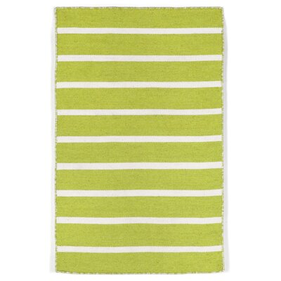 Ranier Hand-Woven Lime/Green/Ivory Indoor/Outdoor Area Rug Rug Size: Rectangle 2 x 3