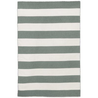 Ranier Stripe Hand-Woven Grey Indoor/Outdoor Area Rug Rug Size: Rectangle 5 x 76