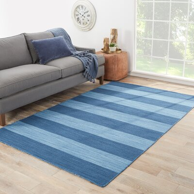 Petherton Hand-Woven Blue Area Rug Rug Size: 5 x 8