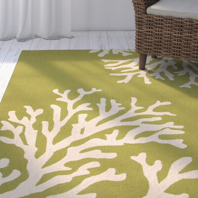 Exeter Green/Ivory Indoor/Outdoor Area Rug Rug Size: 5 x 76