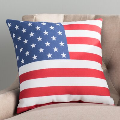 Archmont Indoor/Outdoor Throw Pillow Size: 20 H x 20 W x 4 D, Color: Red / Blue