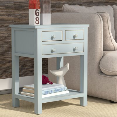 Bartlett End Table Color: Aqua