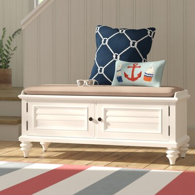 Kenduskeag Upholstered Storage Entryway Bench Color: Bright White