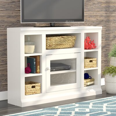 Coconut Creek 46 TV Stand Door Type: Glass, Color: Bright White