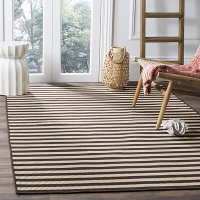 Verde Ivory/Brown Indoor/Outdoor Area Rug Rug Size: 6 x 9