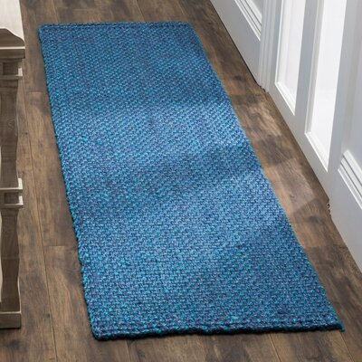 Emery Hand-Woven Blue Area Rug Rug Size: Runner 23 x 6